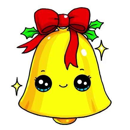 Christmas Bell Cute Kawaii Drawings Cute Food Drawings