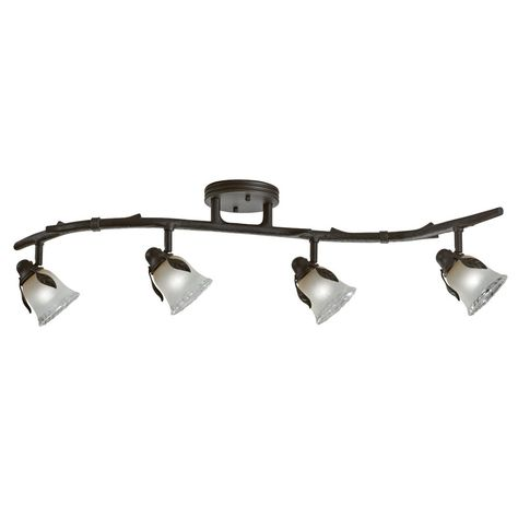 Portfolio Branches 4 Light 33 125 In Olde Bronze Dimmable Standard Fixed Track Kit