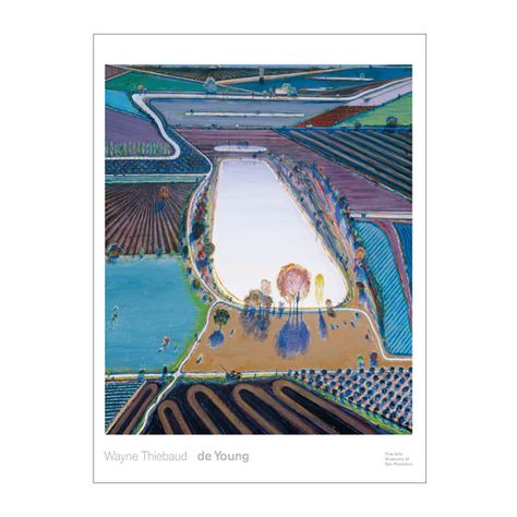 de Young & Legion of Honor Museum Stores | Wayne Thiebaud Ponds and Streams Poster