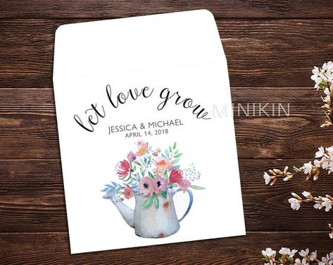Let Love Grow, Seed Packet Favor, Spring Wedding, Wedding Favor, Watercolor, Seed Packet Envelopes, White Seed Packets, Wedding Favor x 25 #personalizedfavors #personalizedwedding #springwedding #flowerfavors #letlovegrow #weddingbudget #weddingideas #weddinggifts