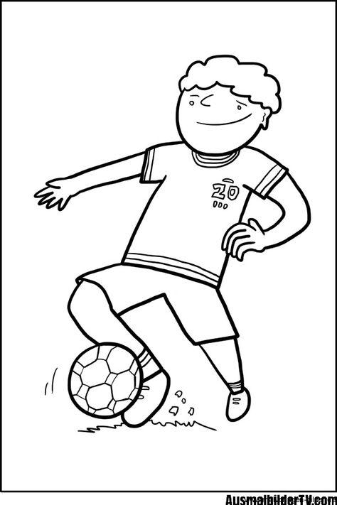 ausmalbilder kostenlos fußball spieler  1ausmalbilder