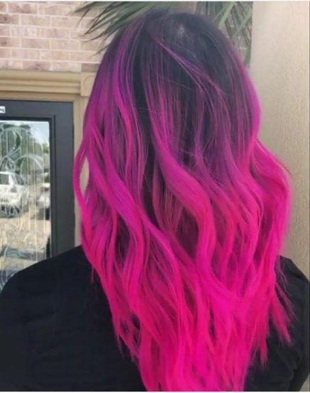 Hair Color Dark Pink Dip Dyed 45 Ideas Hair Color Pink Hair Styles Hair Color Dark
