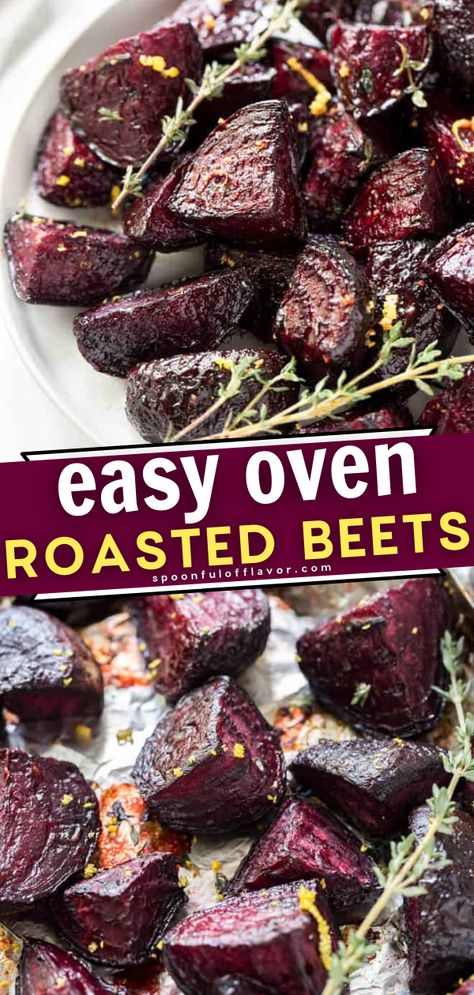 You are only a few simple steps away to having these Easy Oven Roasted Beets! This recipe requires less than 15 minutes of prep time. Not only is this side dish packed with nutrients, but the deep purple color makes it a gorgeous addition to your Thanksgiving table!