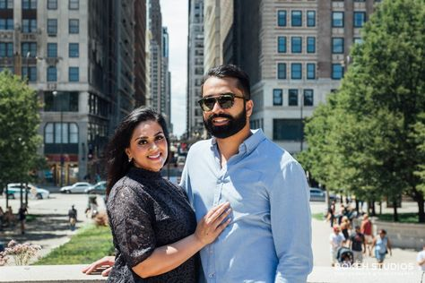Engagement Shoot in Downtown Chicago: Yousuf & Afia