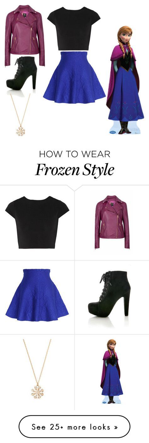 """""""DISNEYBOUND: ANNA"""" by mizaelp on Polyvore featuring Alice + Olivia, Chicwish, Ted Baker and Forever 21"""