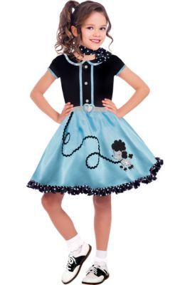 50s Costumes Sock Hop Costumes Poodle Skirts Car Hop Costume In 2020 Halloween Costumes For Girls Halloween Costumes Party City Halloween Costumes For Teens Girls
