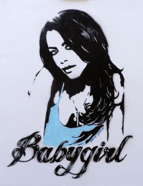 Aaliyah Babygirl Hand painted T-Shirt.