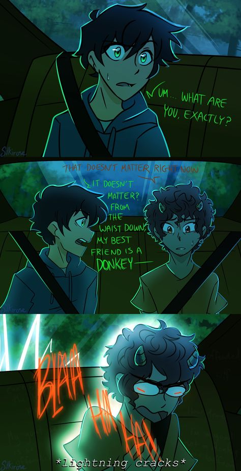 silkirose: So I've recently gotten into the Percy Jackson fandom maddi: welcome to the crew, you'll need tissues Percy Jackson Ships, Percy Jackson Quotes, Percy Jackson Books, Percy Jackson Fandom, Percy Jackson Comics, Grover Percy Jackson, Percy Jackson Fan Art Funny, Percy Jackson Lightning Thief, Rick Riordan Series