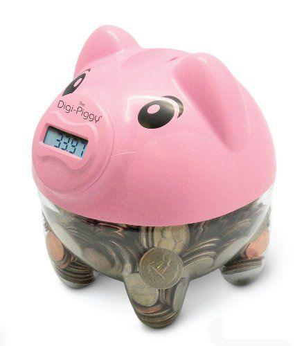 The Digi Piggy Digital Coin Counting Bank Pink List Price 19 99 Price 9 99 Free Shipping Piggy Bank Counting Coins Piggy