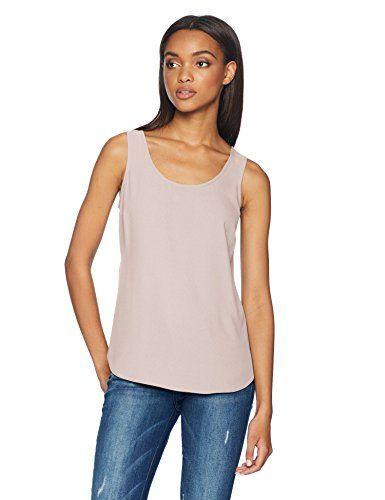 da525cecd50f1 Daily Ritual Women s Shirt-Tail Scoop-Neck Sleeveless Shell