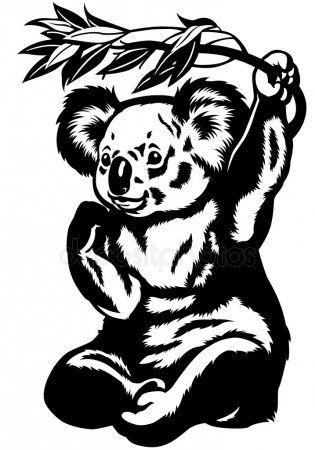 Koala Bear Black And White Koala Drawing Koala Illustration Bear Illustration