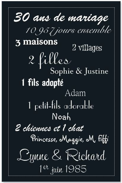anniversaire de mariage 30 ans citations gosupsneek. Black Bedroom Furniture Sets. Home Design Ideas