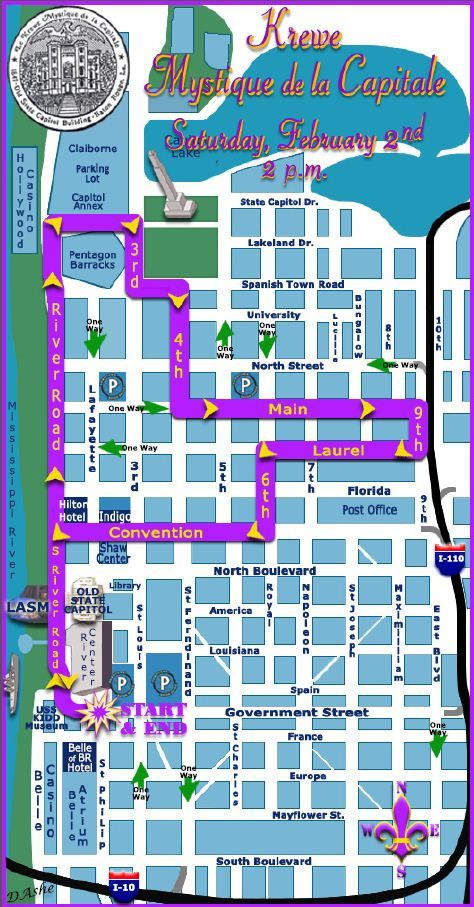 Krewe Of Mystique Parade Route Head Downtown On February 2nd At 2