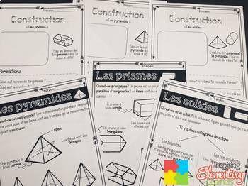 Les Prismes Et Les Solides Mathematiques 4e Annee Math Resources Math Tpt Seller