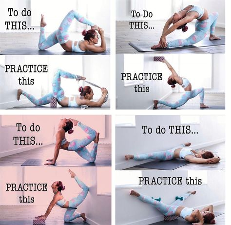 Yoga Progress😃 a little progress each day adds up to big results 🤩 Hapiness is Yoga Yoga and more Yoga Dancer Workout, Gymnastics Workout, Easy Gymnastics Moves, Yoga Poses For Beginners, Advanced Yoga Poses, Splits Stretches For Beginners, Intermediate Yoga Poses, Back Yoga Stretches, Ballet Stretches