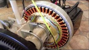 How To Rewire An Old Washing Machine Motor To Generate Free Power