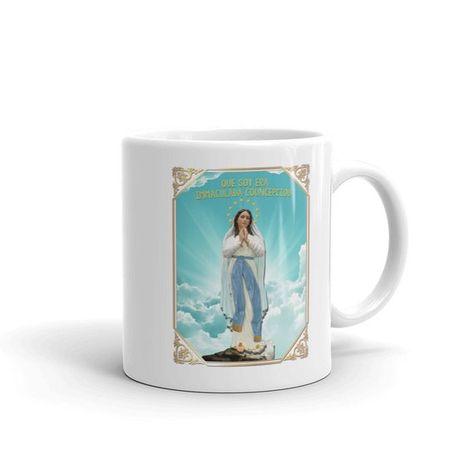 Catholic gifts - Our Lady of Lourdes Ceramic Mug - religious home decor - Virgin Mary mug - religious gifts