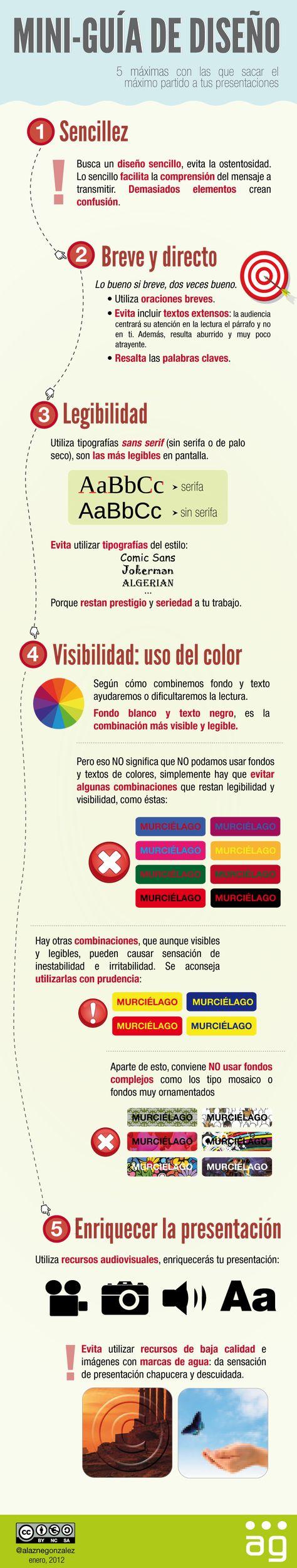 Guía de diseño para presentaciones #infografía