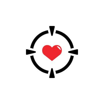 Target Love Icon Design Template Vector Isolated Love Icons Target Icons Template Icons Png And Vector With Transparent Background For Free Download Icon Design Design Template Icon
