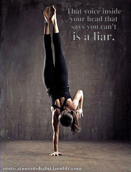 That voice inside your head that says you can't is a liar. #workout #motivation