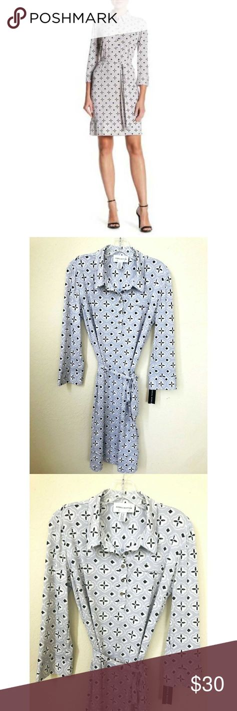 """Donna Morgan Womens Shirt Dress Grey Printed Sz 12 Donna Morgan Womens Shirt  Dress Grey Printed Size 12   Condition: New with tags  Measurements:  Bust (Pit to Pit) 20""""  Length 40""""  Your satisfaction is our greatest hope, please contact us directly if there is any concern. Donna Morgan Dresses"""