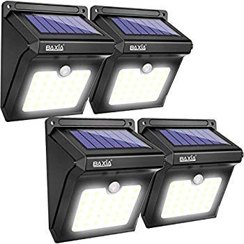 Hsicily Solar Lights Outdoor Waterproof Wall Lights Wireless Motion Activated Auto On Off Solar Security Light Motion Sensor Lights Outdoor Solar Motion Lights