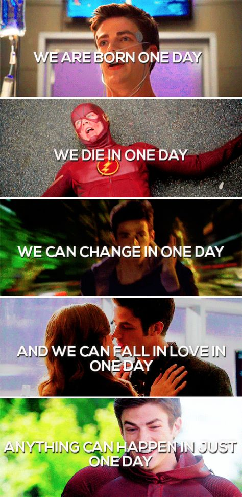 One Day. The Flash. Snowbarry. Barry Allen and Caitlin Snow~~~I don't ship Snowbarry anymore, but this is cool