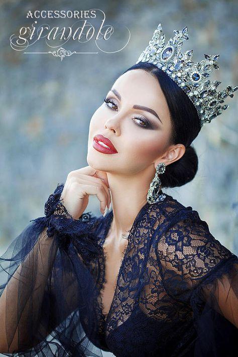 Tiara crown Gray angel wedding tiara crown for
