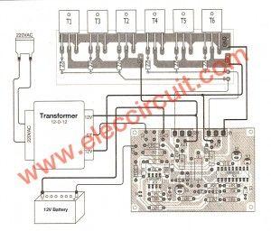 Inverter Circuit 500w 12v To 220v Eleccircuit Com In 2020 Circuit Diagram Power Inverters Circuit