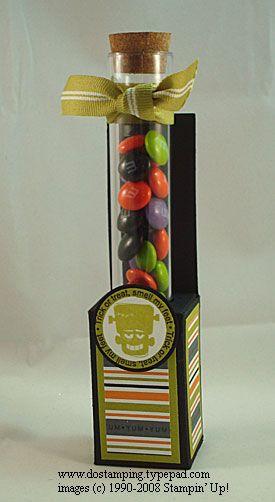 Tube candy holder
