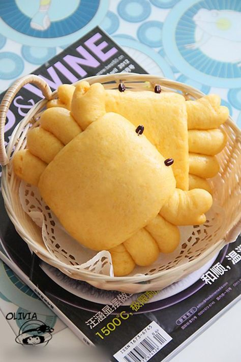 Are you wondering how to make Pumpkin Bun (Bánh Bao Bí Đỏ) which comes from one of amazing Easy Vietnamese Recipes? Here is our recipe today Cute Food, Good Food, Yummy Food, Pumpkin Buns Recipe, Easy Vietnamese Recipes, Bread Shaping, Bread Art, Cute Buns, How To Make Pumpkin