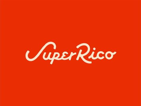 Super Rico : Dos by Valeria Waters Typography Letters, Typography Logo, Logo Branding, Jessica Hische, Graphic Design Typography, Lettering Design, Japanese Typography, Herb Lubalin, Typography Inspiration