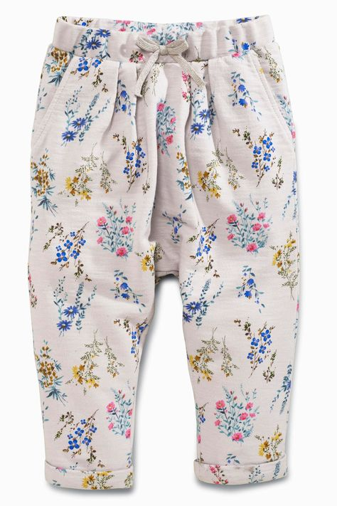 Buy Grey Floral Soft Trousers (3mths-6yrs) from the Next UK online shop