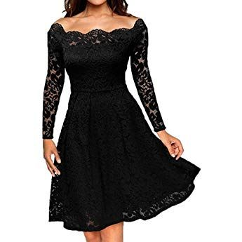 Xmiral Women Dress Vintage Lace Formal Wedding Cocktail Evening Party Ladys