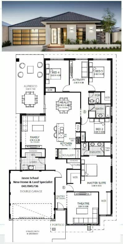Pin By Jose German On House Plans House Construction Plan My House Plans House Plan Gallery