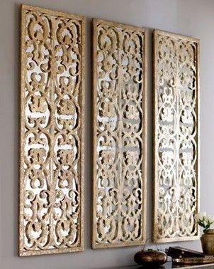 34 Inspirations Of Lattice Wall Decor Wall Paneling Diy Mirror Panel Wall Mirror Design Wall