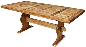 Charming This Very Affordable Rustic Table Is Hand Made Of Sturdy Pine And Will  Provide Exceptional Stability For Even The Most Rambunctious Family Dinners.