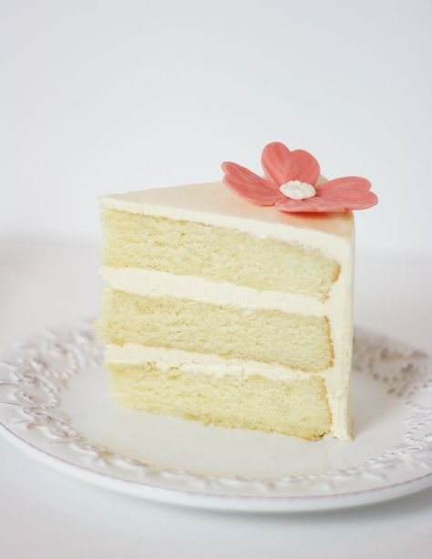 Sour Cream Vanilla Bean Cake With French Sour Cream Buttercream Recipe With Images Vanilla Bean Cakes Cake Recipes Uk Sour Cream Cake