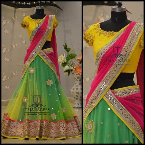Your Official Guide to Find Best Half Saree Blouse Designs • Keep Me Stylish