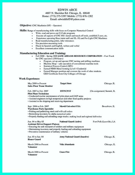 Nice Writing Your Qualifications In Cnc Machinist Resume A Must Resume Template Resume Indesign Resume Template