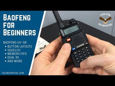 Interested in a Baofeng radio but don't know how to use it? Check out our Baofeng for Beginners video to figure it out. Emergency Radio, Emergency Preparedness, Survival, Emergency Kits, Ham Radio Kits, Ham Radio License, 72 Hour Kits, Online Training Courses, Cool Tech Gadgets