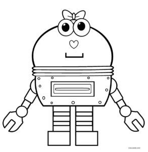 Coloring Pages Robots Print You'll Love