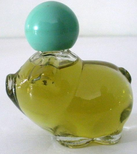 Avon perfume glass bottle with red cap