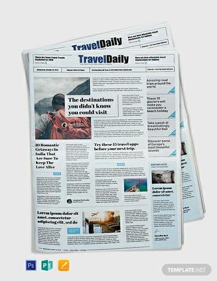 Microsoft Word Newspaper Templates In 2020 Newspaper Template Templates Templates Printable Free