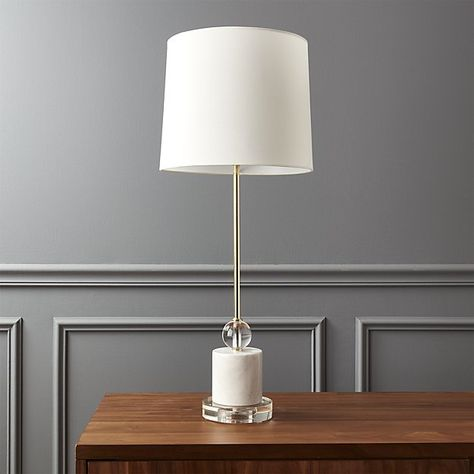 Siena Marble Base Table Lamp   CB2 usd 159.00   Bronze table