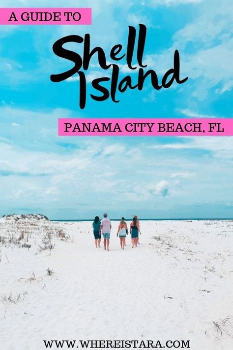 Shell Island, Panama City Beach is one of the most beautiful places in Florida. Here's my complete guide to a day trip to Shell Island including a Shell Island packing list, how to get to Shell Island and more. Panama City Florida, Destin Florida Vacation, Beach Vacation Tips, Places In Florida, Florida Travel, Beach Trip, Vacation Trips, Beach Vacations, Miramar Beach Florida