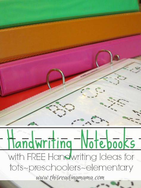 What a great resource!Handwriting Notebooks ~ FREE Resources for tots-preschoolers-elementary