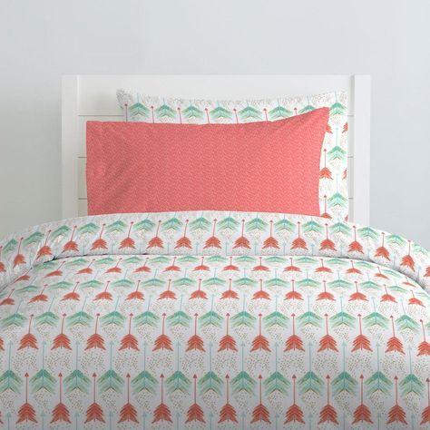 Coral And Teal Arrow Kids Bedding Teal Bedding Bedroom Color Schemes Teal Bedding Sets