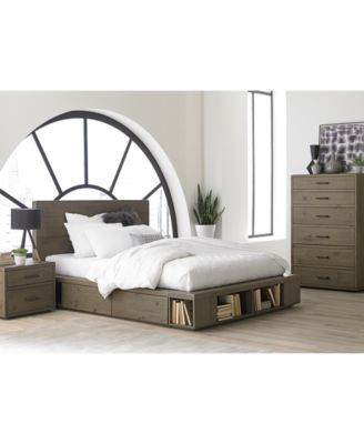Brandon Storage Queen Platform Bed Created For Macy S With