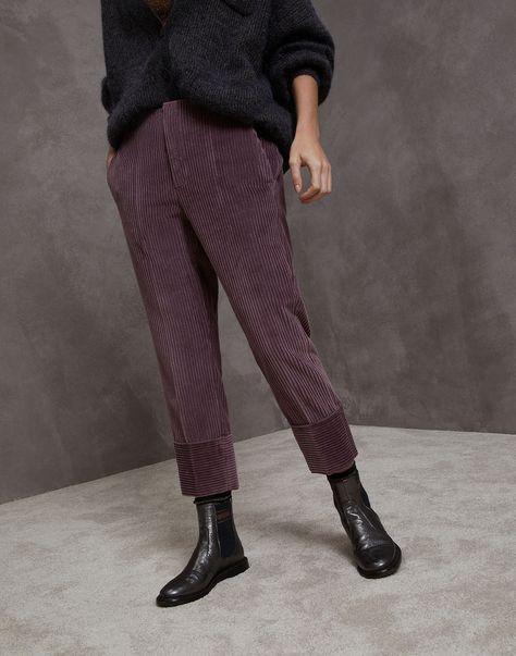 Trousers Lavender Woman Brunello Cucinelli